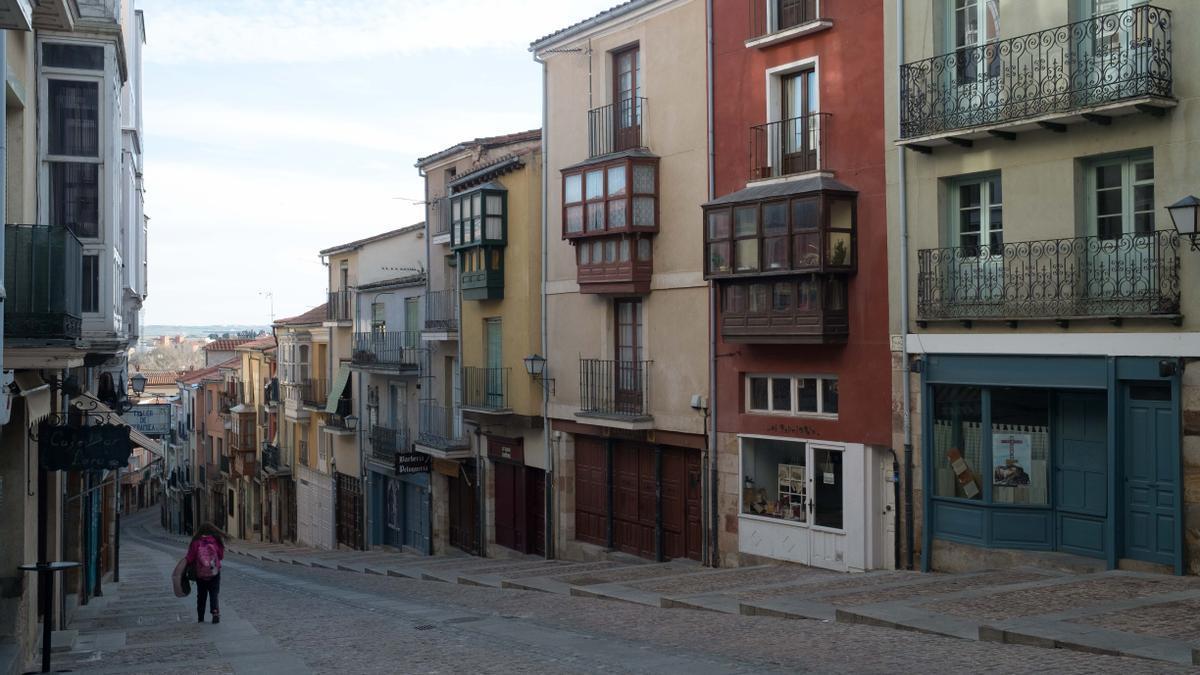 Calle Balborraz de Zamora.