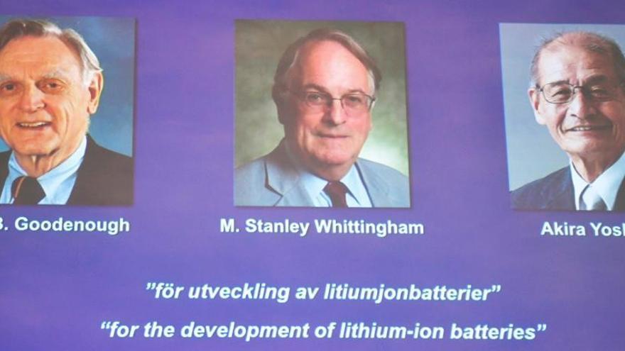 El premio Nobel de Química reconoce a los desarrolladores de las baterías de ion-litio