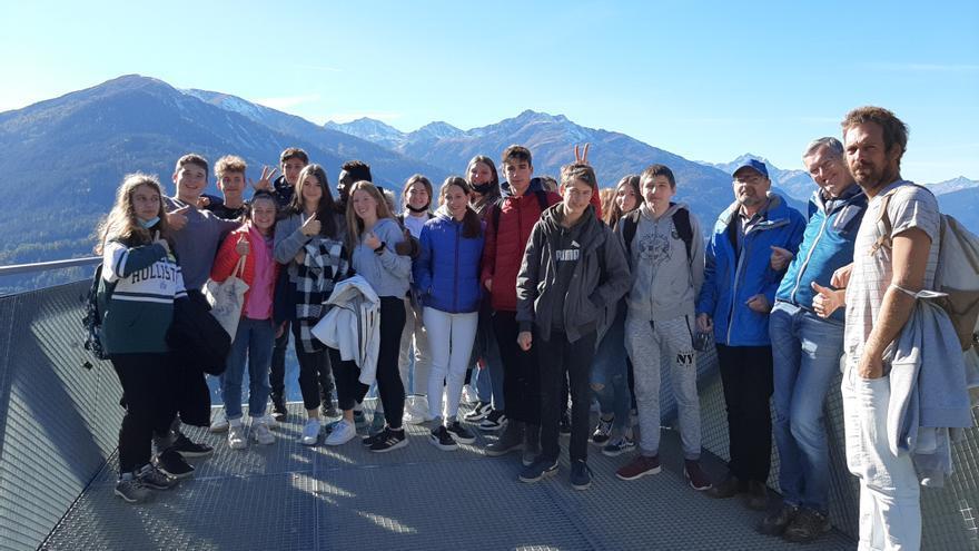 Los alumnos de intercambio del IES Antoni Llidó de Xàbia conocen la región tirolesa de Landeck