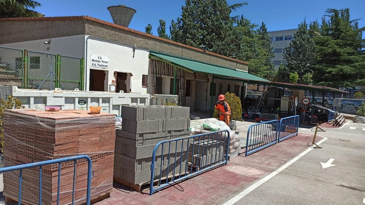 Inicio de las obras en el edificio de Educación Vial de Teruel