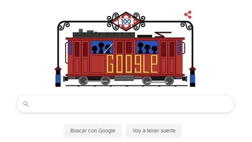 El 100º aniversario del Metro de Madrid, en el 'doodle'.