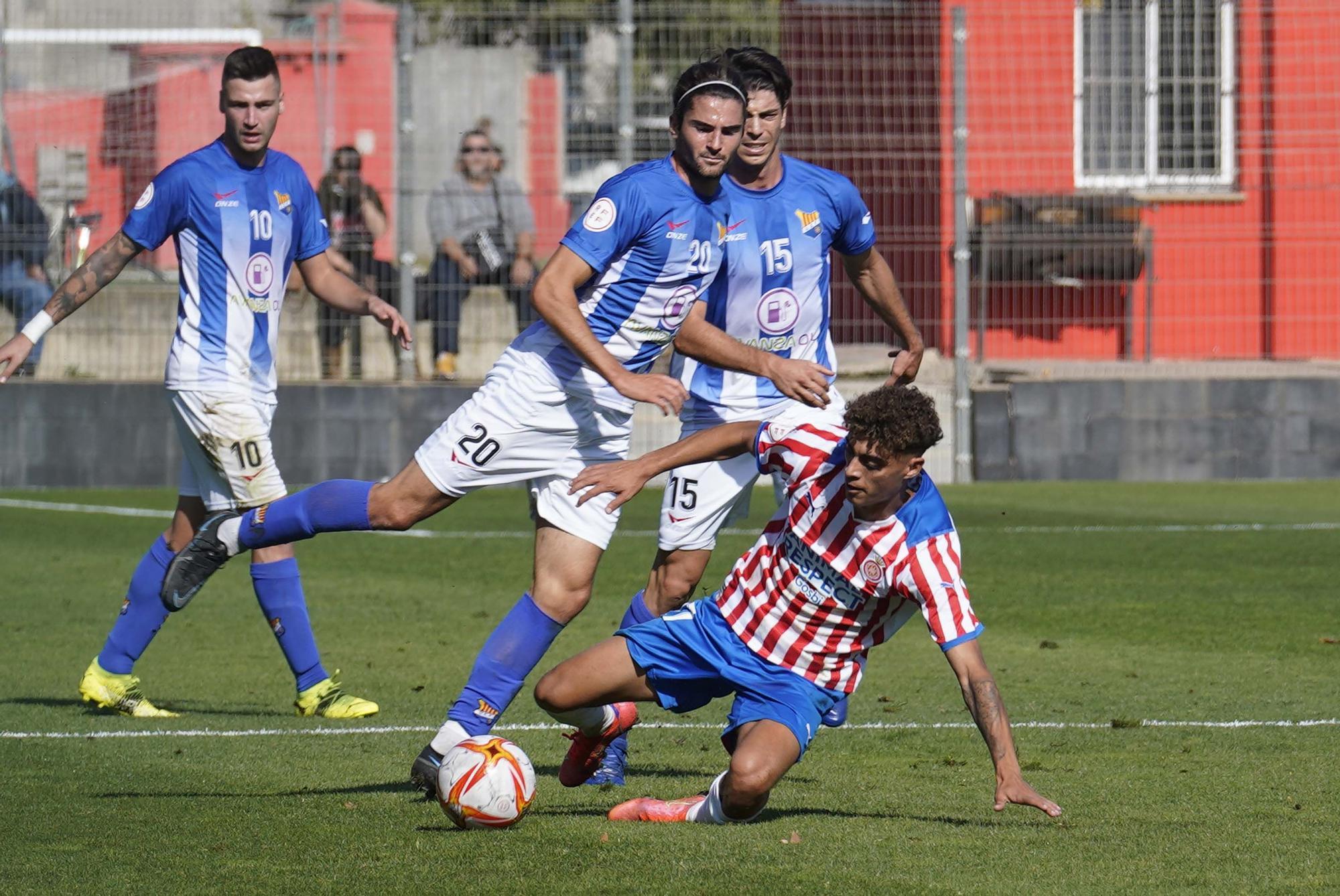 Un efectiu Figueres dona la sorpresa i s'apunta el derbi davant el Girona B