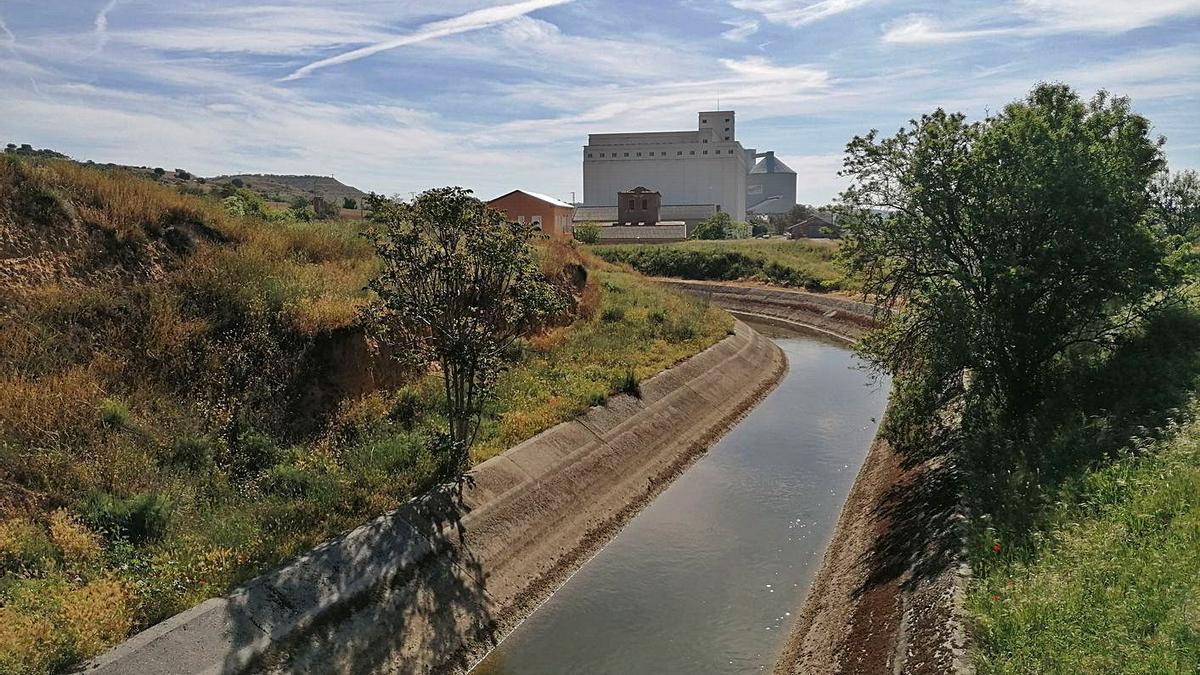 Canal Toro-Zamora, preparado para distribuir agua destinada al riego de parcelas cultivadas. | M. J. C.