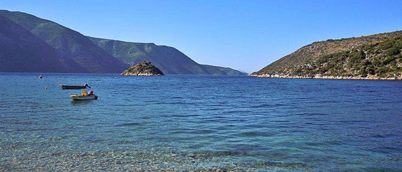 Imagen de la isla de Ítaca.