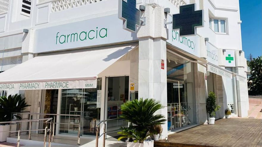 Una farmacia moderna en el corazón de Puerto Banús