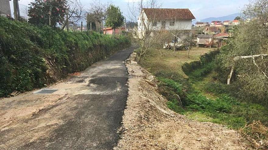 Redondela mejora varios viales en las parroquias de Cedeira, Reboreda y O Viso