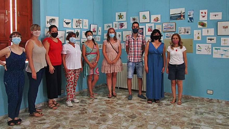 La Casa de Cultura exhibe obras de acuarelistas