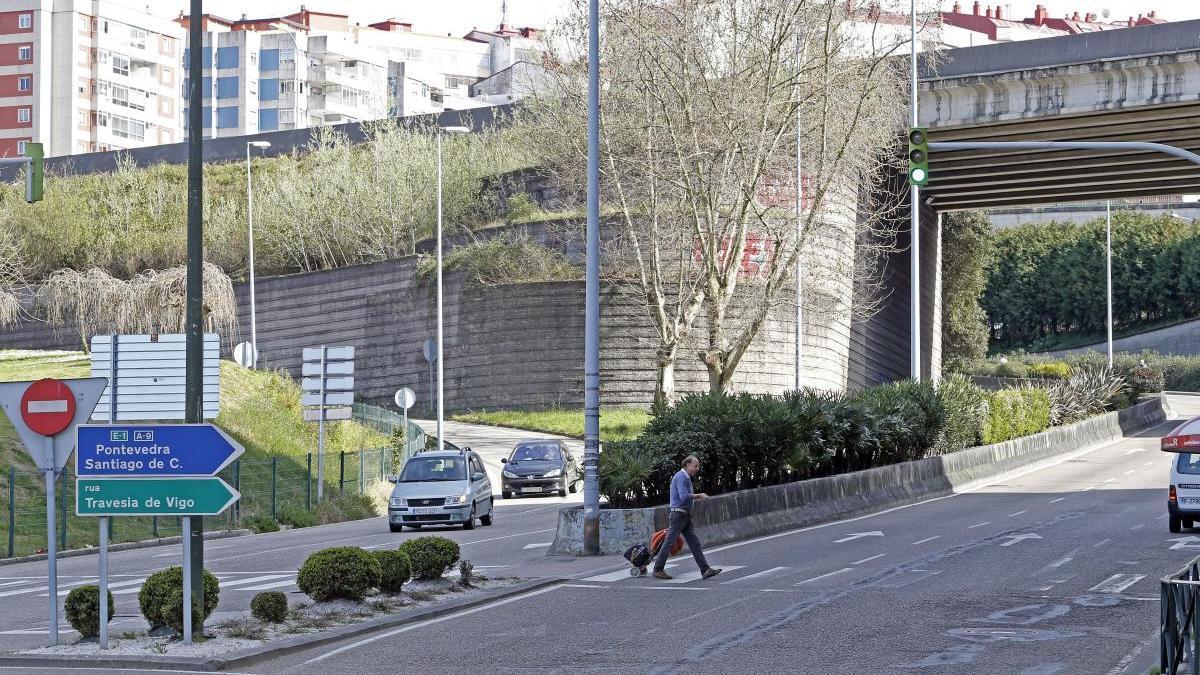 El robo tuvo lugar en la zona de Isaac Peral. // Marta G. Brea