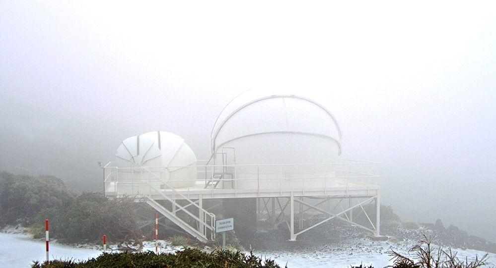 La borrasca deja nieve en La Palma