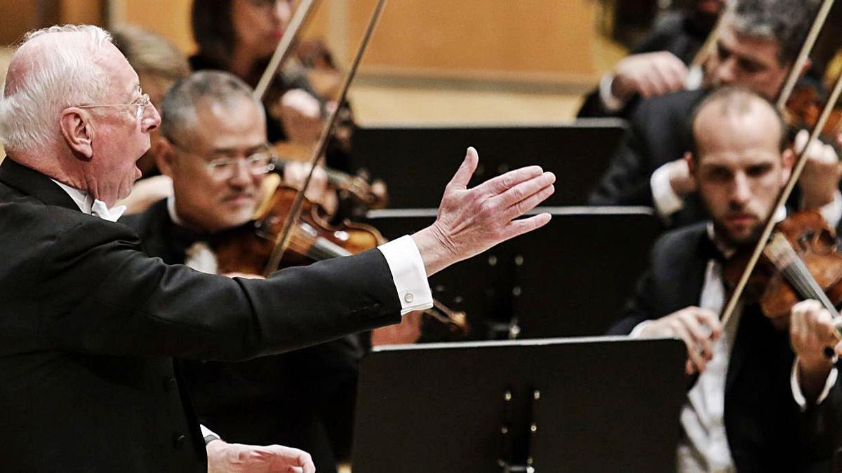 William Christie, durante un concierto en Oviedo. | Irma Collín