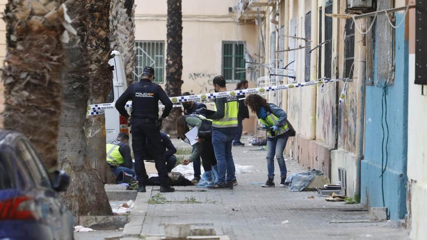 Troben mort a colps un toxicòman en les Casetes Rosa de València