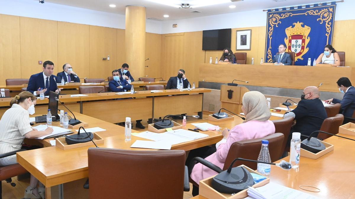 Imagen de un pleno de la Asamblea de Ceuta.