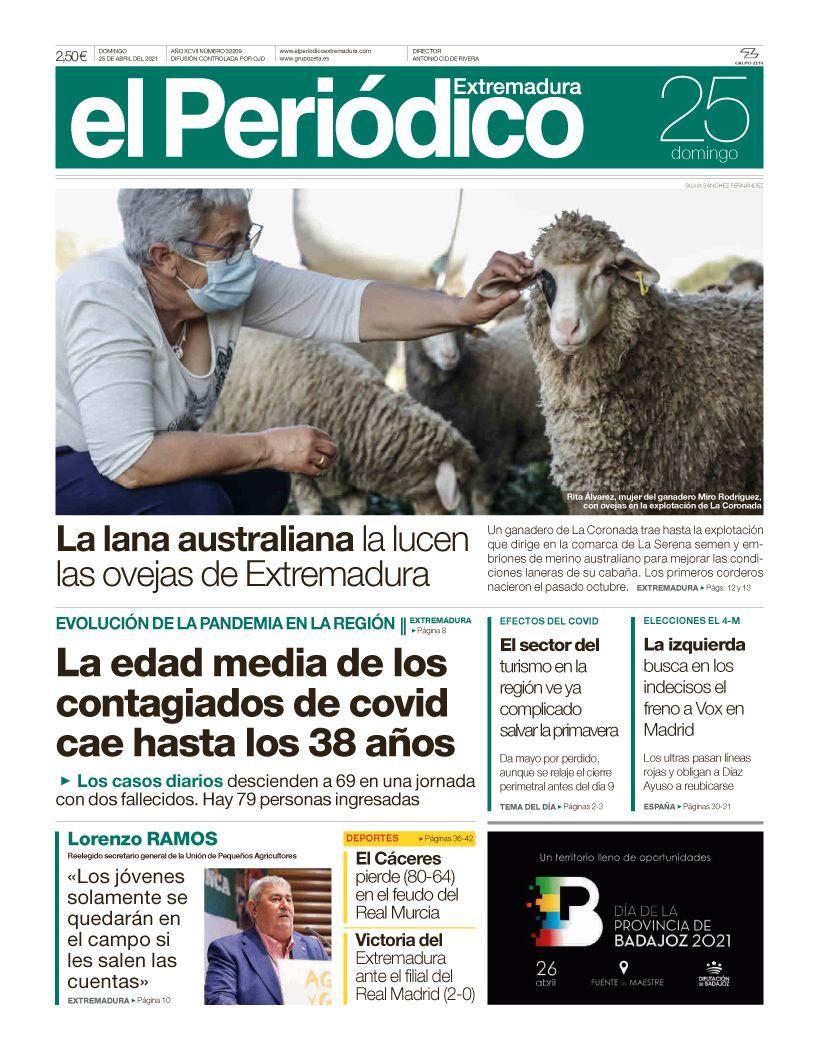 Consulta la portada correspondiente al día 25 de abril del 2021