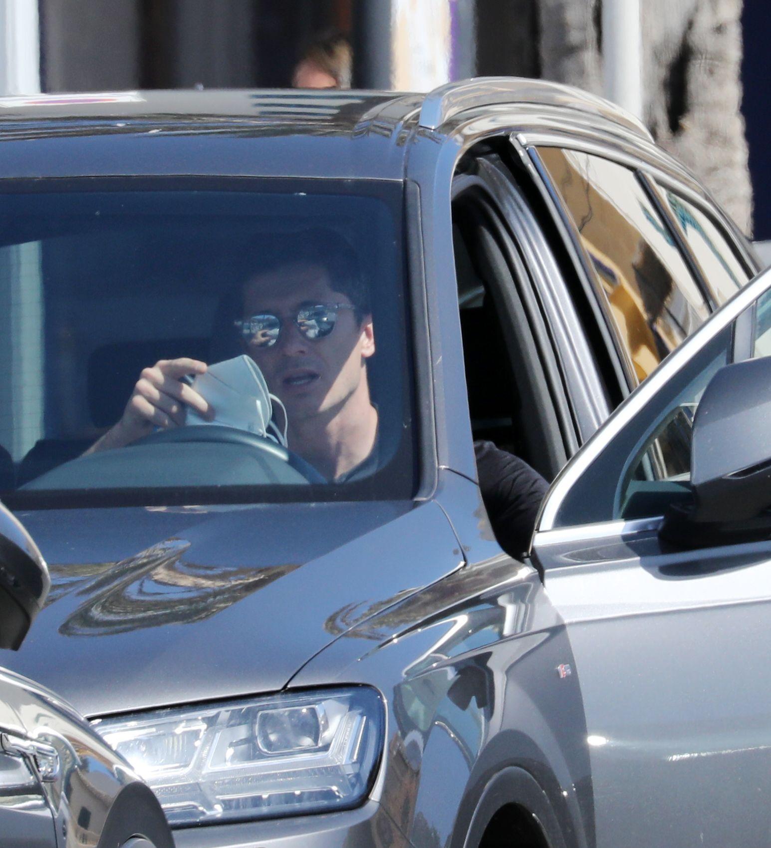 El futbolista Lewandowski, multado durante sus vacaciones en Mallorca