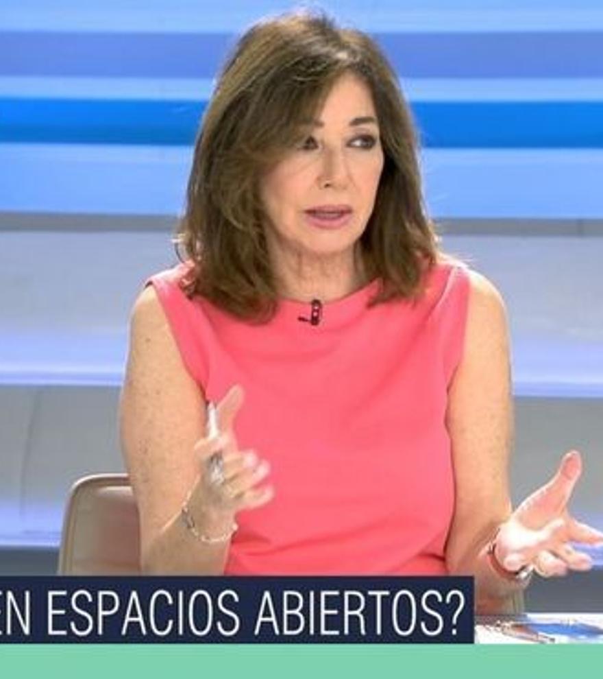 """Ana Rosa, a favor de quitar las mascarillas en espacios abiertos: """"Ya está bien, hay que ir avanzando"""""""