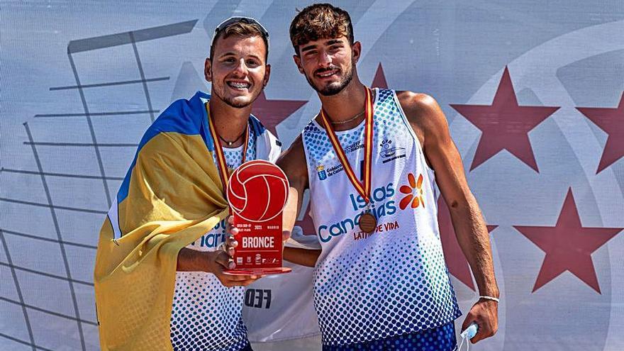 Brito y García dan a Canarias el bronce en el Nacional sub 19