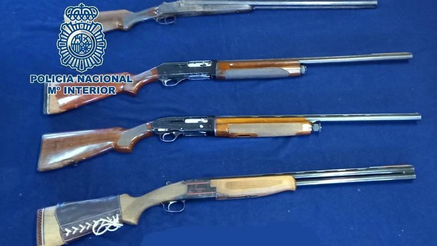 Detenido en Córdoba con cuatro escopetas por tenencia ilícita de armas
