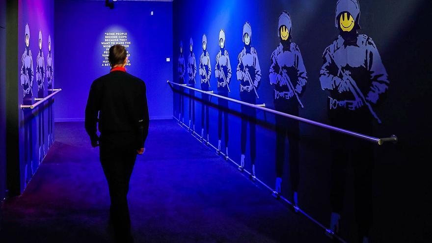 La exposición de Banksy en Madrid.  efe/e.naranjo