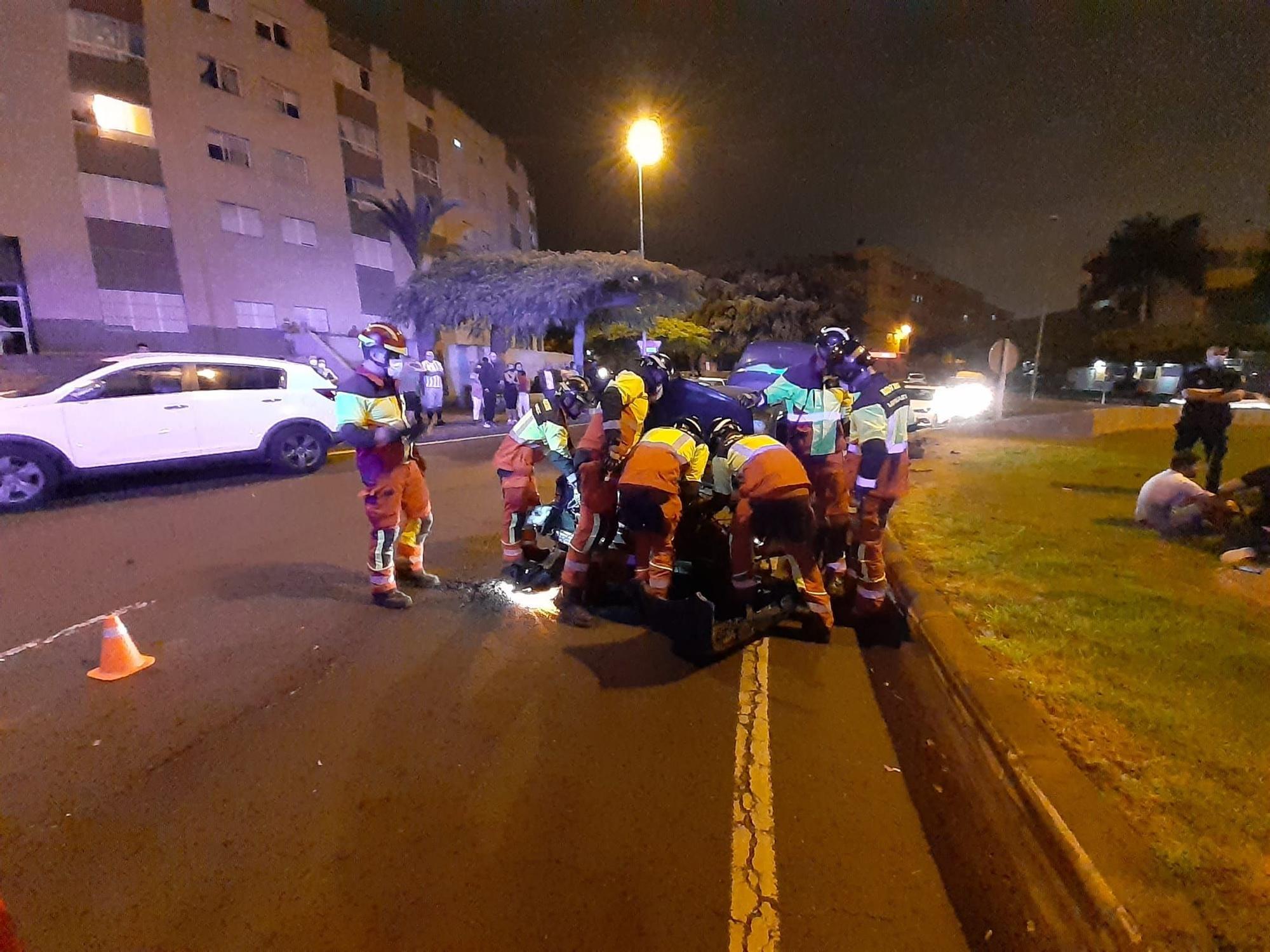 Accidente en Lomo Los Frailes