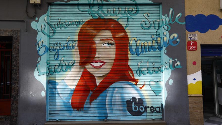 El proyecto Rúa Feliz ilumina la zona de Bretón con arte urbano