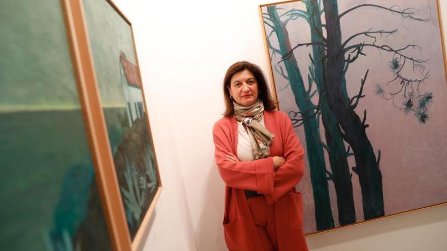La artista gijonesa Covadonga Valdés Moré inaugura una exposición en la galería de arte Amaga de Avilés
