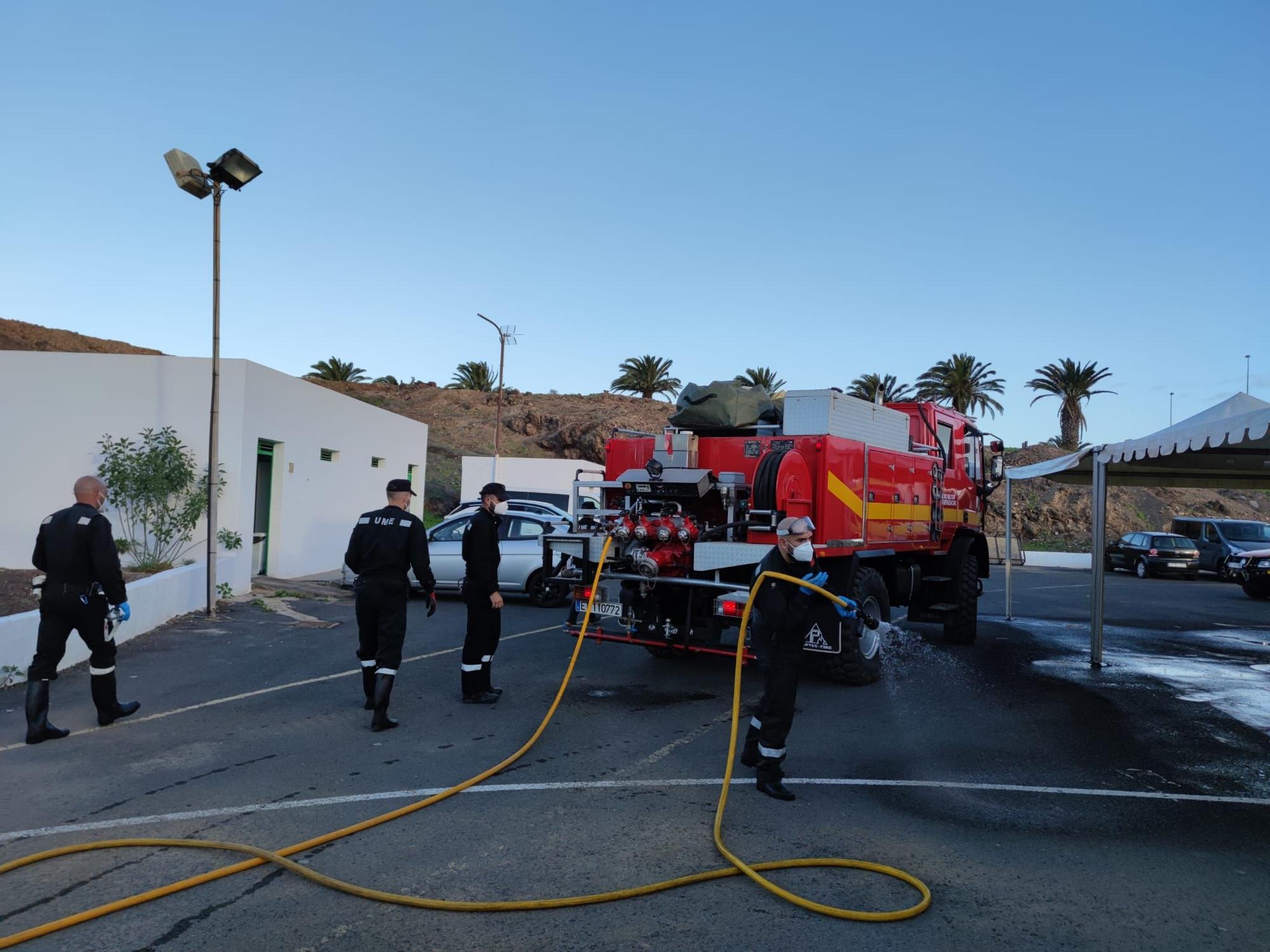 La UME vuelve a intervenir en Lanzarote para frenar los contagios