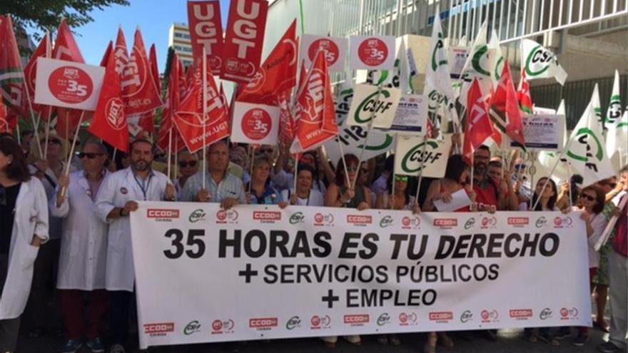 UGT, CCOO y CSIF unen fuerzas en Córdoba por la semana de 35 horas