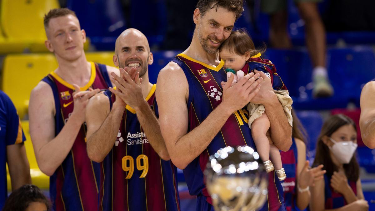 Pau Gasol, durante la celebración del título.