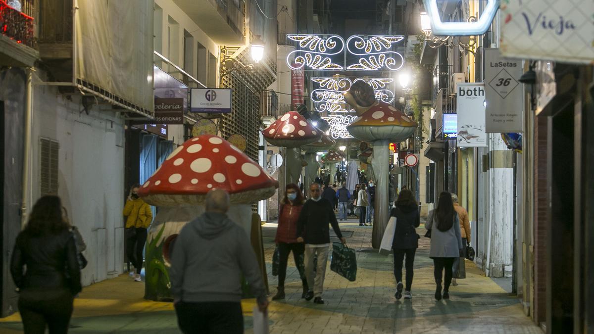 """Imagen de la calle de """"las setas"""" donde tiene lugar la iniciativa 'Botigues al carrer'"""