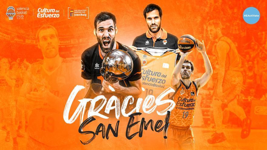 Fernando San Emeterio se retira y se despedirá en un acto abierto en la Fonteta