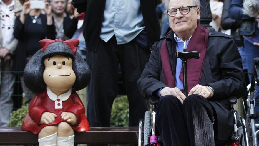 Fallece Quino y su Mafalda de Oviedo se queda huérfana
