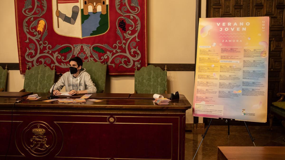 Presentación del Verano Joven en el Ayuntamiento de Zamora