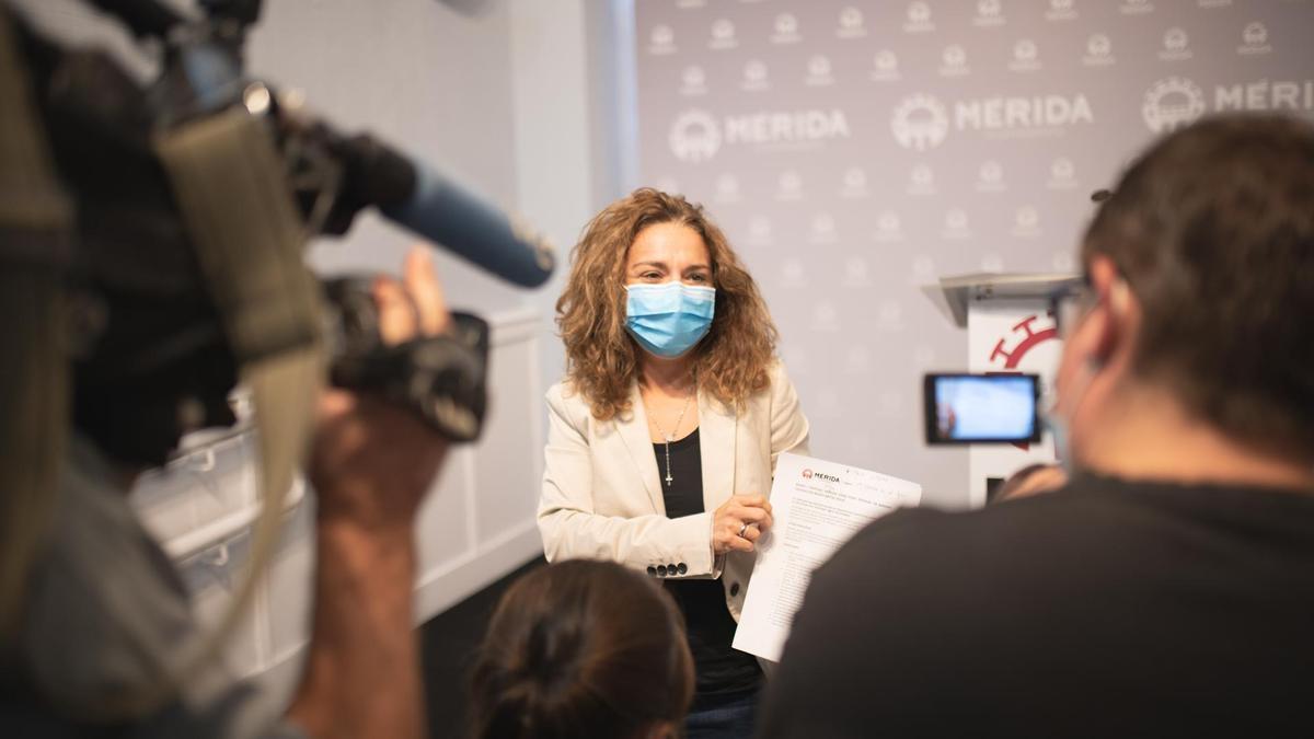 La delegada de Cultura, Silvia Fernández, esta mañana en rueda de prensa.