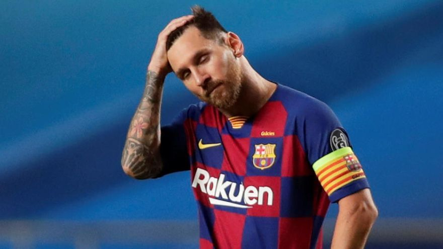 Messi li diu a Koeman que no veu clar seguir al Barça