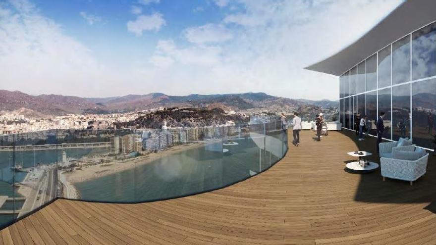 Nuevo proyecto del hotel del Puerto de Málaga.