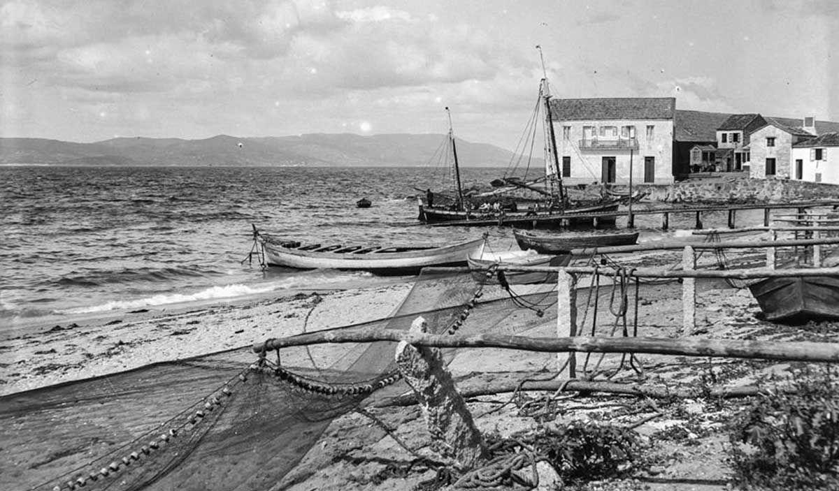 Playa de Bueu 1929-30 por Otto Wonderlich IPCE