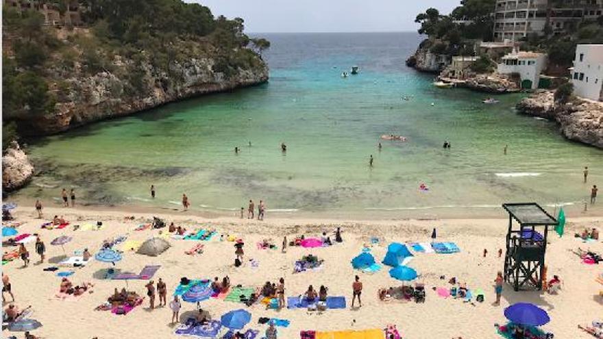 Pumpe soll gelbe Algen in Cala Santanyí verhindern