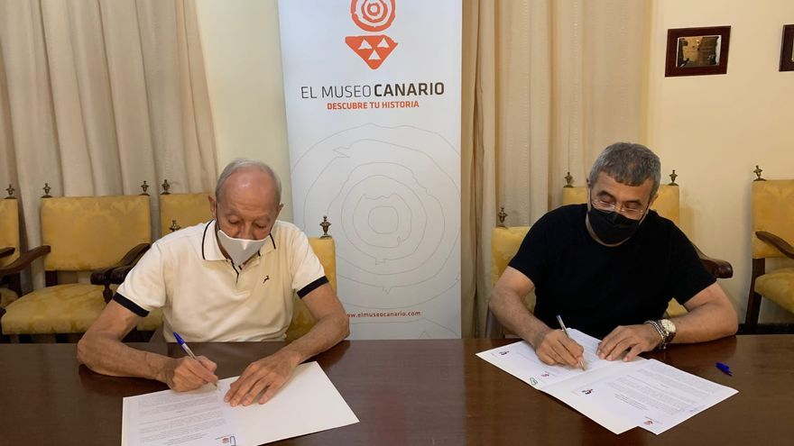 El Museo Canario firma un convenio de colaboración con la Escuela Luján Pérez