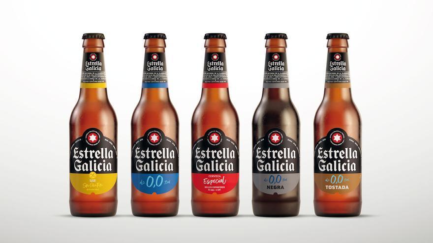 Estrella Galicia espera reducir en 9.000 toneladas de CO2 su huella de carbono con el nuevo diseño de sus botellas