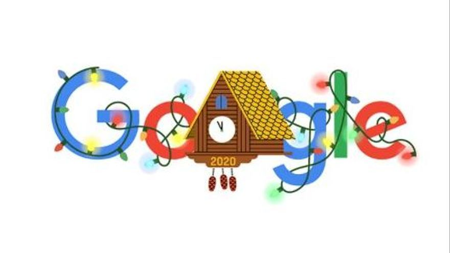 Google celebra el fin de año con un colorido 'doodle'