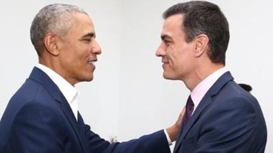 """""""Molta química"""" a la reunió Sánchez-Obama"""