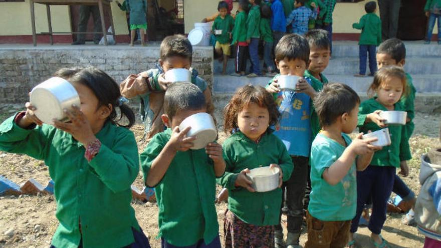 'Por un cacharro de gofio' en Nepal