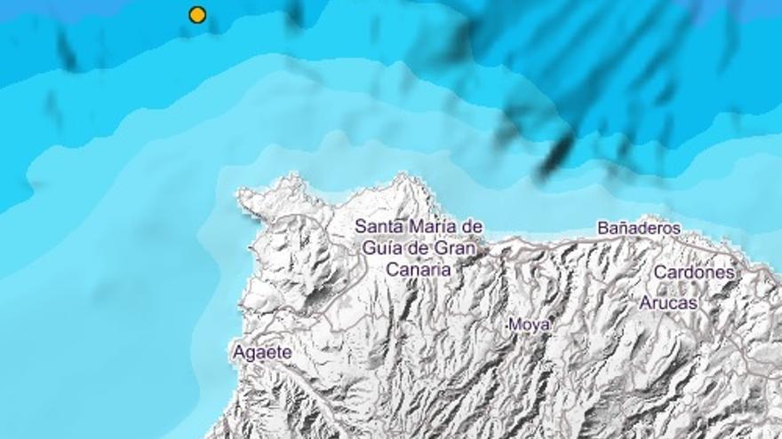 Seísmo al norte de Gran Canaria