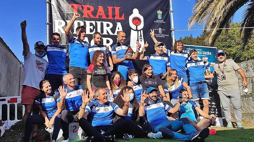 El Galaico, premiado como club más numeroso en el V Trail Ribeira Sacra