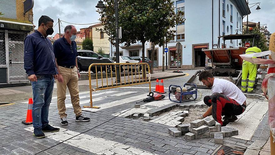 El Ayuntamiento remata la obra del firme de la calle polesa de Celleruelo