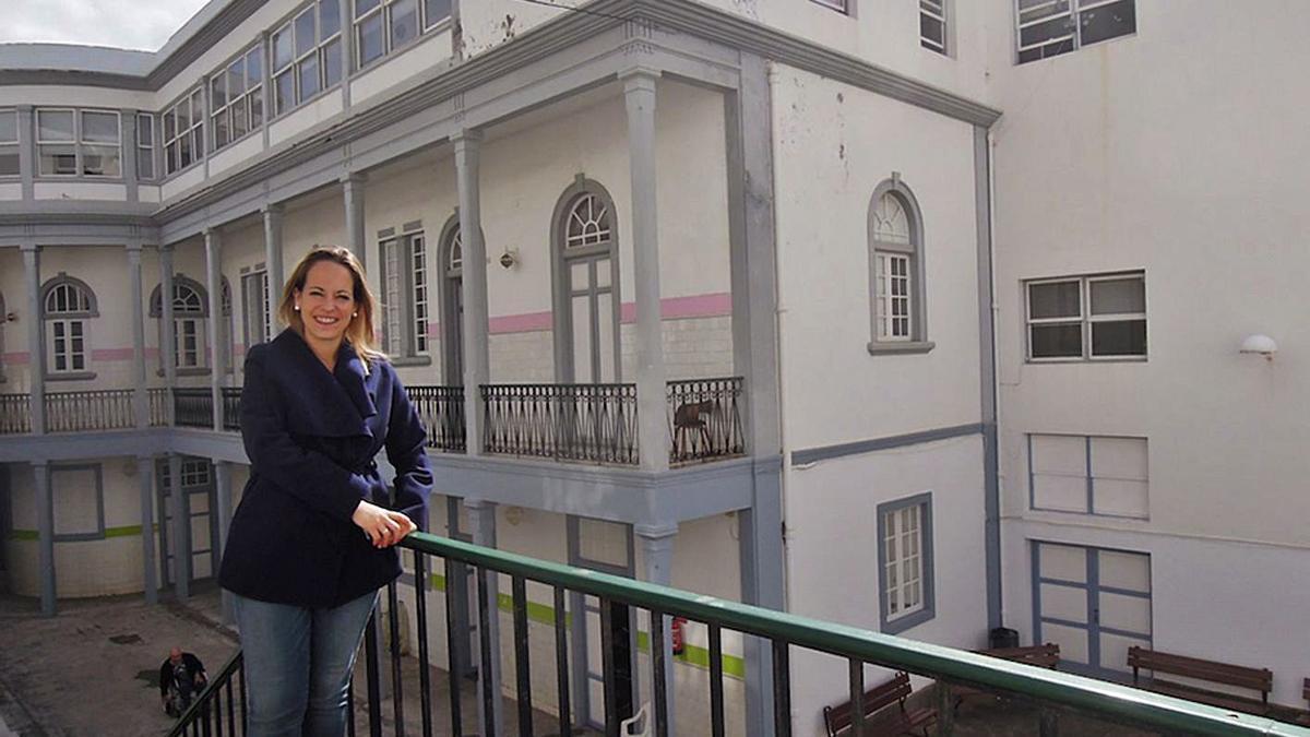 Susana Machín, consejera de Sanidad del Cabildo de La Palma, en el Hospital de Dolores.