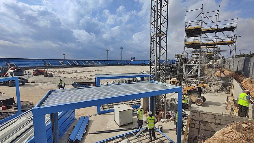 Nueva tribuna y cabinas de prensa para el estadio de Can Misses