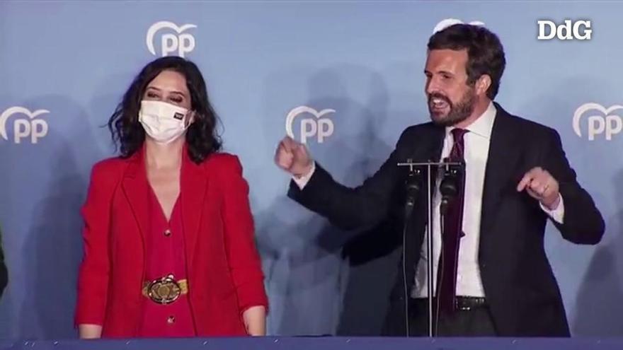 Casado afirma que «Madrid ha fet una moció de censura democràtica al sanchisme»
