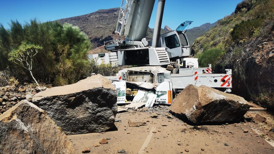 Gran desprendimiento en Santiago del Teide (19/04/2021)