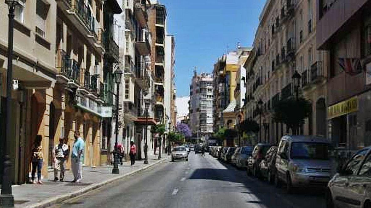 Una calle de Málaga.